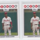 Jimmy Rollins Trading Card Lot of (2) 2008 Topps #30 Phillies