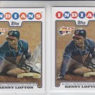 Kenny Lofton PSH Lot of (2) 2008 Topps #128 Indians