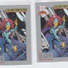 Blackfire Trading Card Lot of (2) 1991 Impel DC Comics #127 *ED