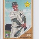 Eduardo Nunez Rookie Card 2011 Topps Heritage #281 Yankees