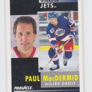 Paul Macdermid French Hockey Card 1991-92 Pinnacle #279 Jets