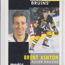 Brent Ashton French Hockey Card 1991-92 Pinnacle #280 Bruins
