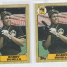 Bobby Bonilla RC Baseball Card Lot of (2) 1987 Topps #184 Pirates
