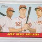 Joey Votto Jay Bruce Juan Francisco 2010 Topps Heritage #25 Reds