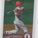 Kendrys Morales Baseball Trading Card 2011 Topps Chrome #99 Angels