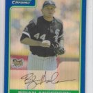 Brian Anderson Blue Refractor SP 2006 Bowman Chrome Draft #BDP7 White Sox 77/199