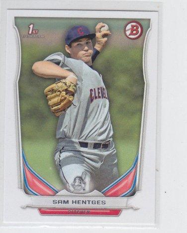 Sam Hentges 1st Prospect Card 2014 Bowman Draft #DP117 Indians