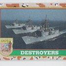 Destroyer Trading Card 1991 Topps Desert Storm #58A *BOB
