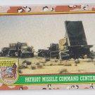 Patriot Missle Command Center Trading Card 1991 Topps Desert Storm #77 *BOB