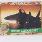 Sunset on the F-14s Trading Card Single 1991 Topps Desert Storm #85 *BOB