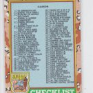 Checklist Error Card #7 listed as Gabriel 1991 Topps Desert Storm #88a  *BOB