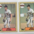 Will Clark Rookie Card Lot of (2) 1987 Topps #420 Giants