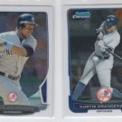 Curtis Granderson Trading Card Lot of (2) 2012 & 2013 Bowma Chrome Yankees