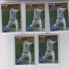 A.J. Burnett Baseball Trading Card Lot of (5) 2010 Topps Chrome #95 Yankees