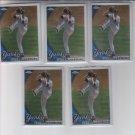 Javier Vazquez Baseball Card Lot of (5) 2010 Topps Chrome #81 Yankees