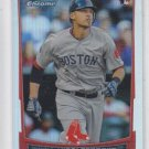 Will Middlebrooks Refractors Parallel RC 2012 Bowman Chrome #189 Red Sox