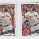 Will Middlebrooks Baseball Trading Card Lot of (2) 2014 Topps #136 Red Sox