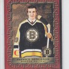 Patrice Bergeron Royal Portraits Insert 2003-04 Crown Royale #2 Bruins Chipping