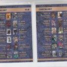 Checklist Lot of (3) No Duplicates 1993 Collector Uinverse #CL1-CL3 *ED