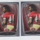 Lache Seastrunk RC Trading Card Lot of (2) 2014 Bowman Chrome #138 Redskins