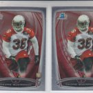 DeOne Bucannon RC Trading Card Lot of (2) 2014 Bowman Chrome 152 Cardinals