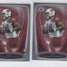 Kareem Martin RC Trading Card Lot of (2) 2014 Bowman Chrome 173 Cardinals