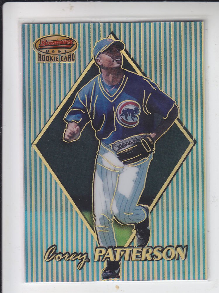 Corey Patterson Rookie Card Refractors 1999 Bowman's Best #159 Brewers 375/400