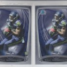 Paul Richardson RC Trading Card Lot of (2) 2014 Bowman Chrome 163 Seahawks