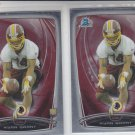 Ryan Grant RC Trading Card Lot of (2) 2014 Bowman Chrome 188 Redskins
