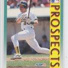 Scott Brosius RC Baseball Trading Card 1992 Fleer #671 Atheltics