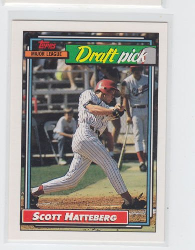 Scott Hatteberg RC Draft Pick Trading Card Single 1992 Topps #734