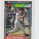Scott Hatteberg RC Draft Pick Trading Card Single 1992 Topps #734
