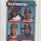 Rudy Pemberton Henry Rodriguez Lee Tinsley Gerald Williams RC 1992 Topps #656