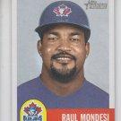 Raul Mondesi Baseball Trading Card Single 2002 Topps Heritage #97 Blue Jays
