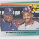 Mo vaughn & Cecil Fielder Super Stars 1992 Fleer #705 Tigers