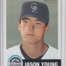 Jason Young RC Baseball Trading Card Single 2002 Topps Heritage #79 Rockies