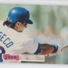 Jose Canseco Gold SP Trading Card 1994 Topps Stadium Club #171 Rangers