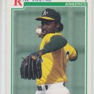 Ray Young RC Baseball Trading Card 1991 Score #761 Athletics