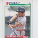 Rico Brogna RC Baseball Trading Card 1991 Score #741 Tigers