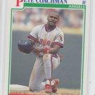 Pete Coachman RC Baseball Trading Card 1991 Score #344 Angels