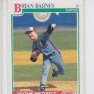 Brian Barnes RC Baseball Trading Card 1991 Score #708 Expos