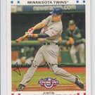Justin Morneau Trading Card Single 2007 Topps Opening Day #112 Twins