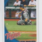 Joe Mauer Baseball Trading Card 2010 Topps #150 Twins