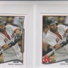 Mike Napoli Trading Card Lot of (2) 2014 Topps Mini Exclusives #479 Red Sox