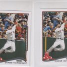 Shane Victorino Trading Card Lot of (2) 2014 Topps Mini Exclusives #301 Red Sox