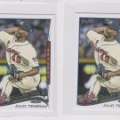 Julio Tehran Future Stars Lot of (2) 2014 Topps Mini Exclusives #288 Braves