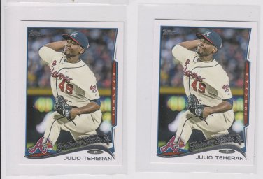 Julio Tehran Future Stars Lot of (2) 2014 Topps Mini Exclusives #288 Braves