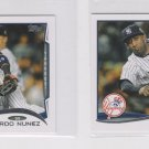 Eduardo Nunez Trading Card Lot of (2) 2014 Topps Mini Exclusives #246 Yankees