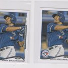 Edwin Encarnacion Lot of (2) 2014 Topps Mini Exclusives 98 Blue Jays