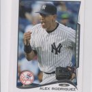 Alex Rodriguez Trading Card Single 2014 Topps Mini Exclusives 168 Yankees